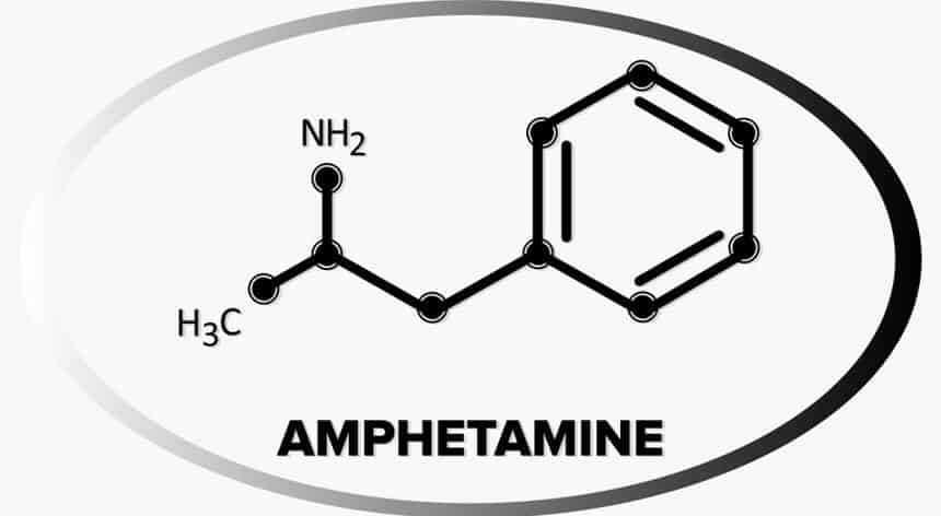 Amphetamine molecule