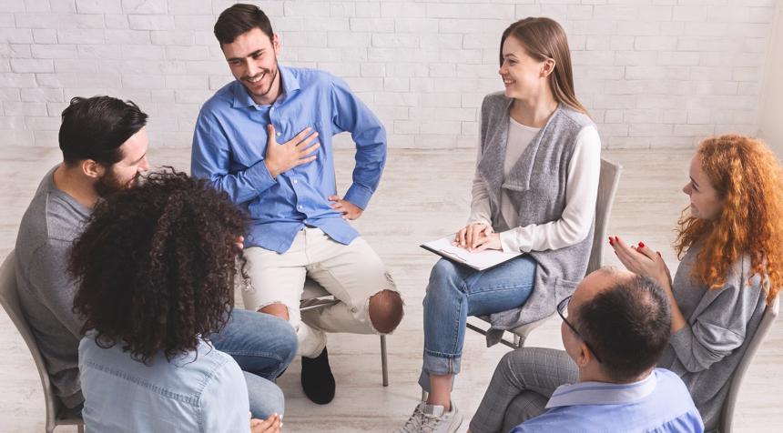 A Suboxone rehabilitation meeting.